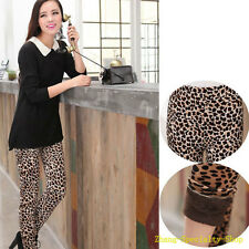 Sexy Leopard Print Seven Pattern Add Wool Thicken Leggings Ninth Pants