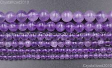 Natural Lavender Amethyst Gemstone Round Loose Beads 4mm 6mm 7mm 8mm 10mm 16''