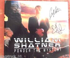 WILLIAM SHATNER SIGNED PONDER THE MYSTERY ALBUM ALSO SIGNED BY BILLY SHERWOOD