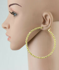 Extra Large Jumbo Fashion Hoop Earrings Twist  Rope Style Gold or Silver Tone