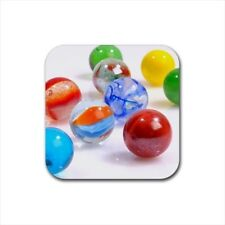 Marbles Bottle Opener Keychain and Beer Drink Coaster Set