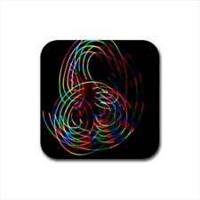 Poi Light Show Bottle Opener Keychain and Beer Drink Coaster Set