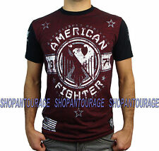 AMERICAN FIGHTER South Carolina FM2707 Men`s New Red T-shirt By Affliction
