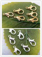 50pcs/100pcs/200pcs Alloy spacer plated silver charm Lobster Clasp