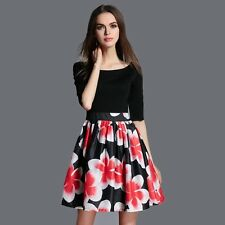 Women's Sweet Slim Evening Floral Dresses Fashion Mini dress Charming Attractive