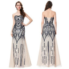 Women Bridesmaid Long Maxi Dress Sequins Formal Evening Party Cocktail Prom Gown