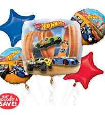 Hot Wheels Balloon Bouquet 5pc Party Supplies Free Postage