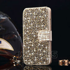 Luxury Crystal Bling Diamond Flip Leather Wallet Case Cover For iPhone 6 6S Plus