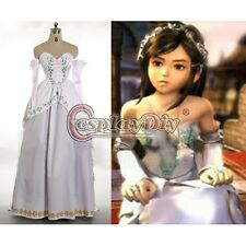 Final Fantasy IX Cosplay Costume Garnet Princess Bride Gown Party Dress Adult