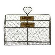 Retro Vintage Style Metal Letter Post Holder Letter Rack Rustic Shabby Chic