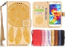 Magnetic Wallet  Embossing PU Leather Card Flip Stand Cover LOT YB-fl Case