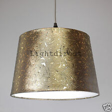 "DARK GOLD FOILE EFFECT 10"" EMPIRE DRUM  LAMP SHADE FOR TABLE LAMP OR CEILING"