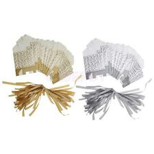 Gold/Silver Ribbon Wedding Favor Boxes Candy Gift Boxes Paper Bags 50pcs