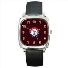 Texas Rangers Round & Square Leather Strap Watch - Baseball MLB