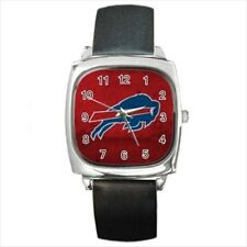 Buffalo Bills Round & Square Leather Strap Watch - Football NFL