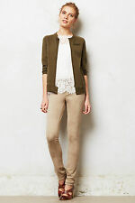 Anthropologie Level 99 Liza Faux Suede Jeans Size 31, Ultra Skinny Beige Pants