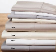 400TC 100% Cotton Sateen Sheet Set | 40cm Wall fitted Sheet | Machine washable