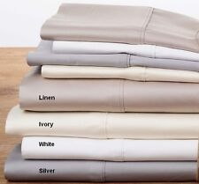 400TC 100% Cotton Sateen Sheet Set   40cm Wall fitted Sheet   Machine washable