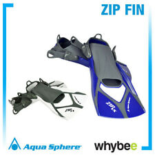 AQUA SPHERE ZIP FIN SWIMMING FINS - SWIM TRAINING FINS Blue Grey Black White