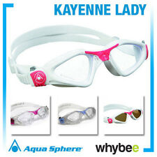 AQUA SPHERE KAYENNE LADIES SWIMMING GOGGLES - WOMENS SWIM GOGGLES Red Blue +MORE