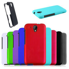 Multicolor Rigid Rubberized HARD Snap On Cover CaseProtector for HTC Desire 520