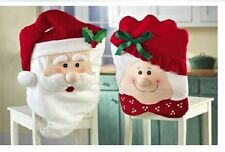 Mr & Mrs Santa Claus Christmas Kitchen Chair Cover Seat Cover Holiday Decoration