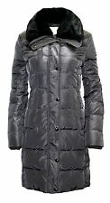 MICHAEL Michael Kors Faux Fur Collar Quilted Puffer Down Coat gunmetal