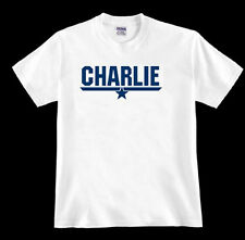 * CHARLIE * tom Top cruise F-14A fighter jet Gun navy pilot 80's fan TSHIRT