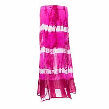 Woven Cotton Gypsy Pink Tie Dye Maxi Skirt by Brave Soul