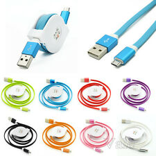 3FT Retractable Micro USB A to USB 2.0 B Fast Data Sync Charger Cable Cord Lot