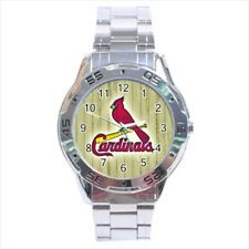 St Louis Cardinals Stainless Steel Watches - MLB Baseball