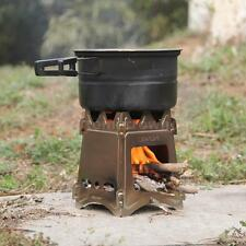 Outdoor Camping Cooking Picnic Backpacking Stove Folding Wood Stove Compact A4C0