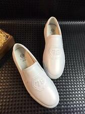 P11 Men's Casual Shoes Fashion Loafers Embossed 78 Logo Leisure Leather shoes