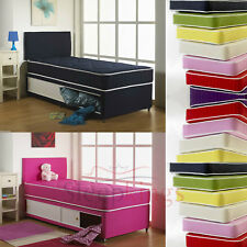 3FT KIDS SLIDE STORAGE DIVAN SET WITH QUILTED MATTRESS IN ALL COLOURS