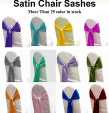 150 Satin Chair Cover Sash Bow Wedding Banquet chair cover Reception Decoration
