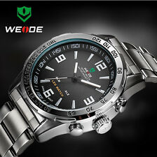 WEIDE WH1009 LED Date Multifunction Men Quartz Wrist Watch Free Shipping