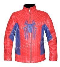 Genuine Leather The Amazing Spider Man 2 Men's Stylish Red Costume Jacket #527