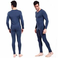 Men Long Johns Thermal Underwear Long Sleeve Tops+Long Pants Warm Underwear