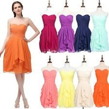 Chiffon Short Cocktail Party Dress Bridesmaid Formal Evening Prom Gown Plus Size