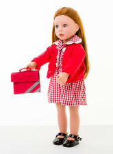 COMPLETE SUMMER UNIFORM FOR  BONNIE AND PEARL DOLL DRESS/CARDY /BOOKBAG /SHOES