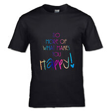 DO MORE OF WHAT MAKES YOU HAPPY T-SHIRT RAINBOW SPARKLE KIDS ADULTS UNISEX :):)