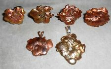 Incredibly unique!  ONE OF A KIND  splatter COPPER rings / pendants