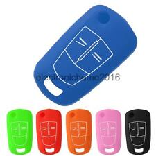 Silicone Smart Key Remote Fob Cover Shell for Opel Vauxhall Corsa Vectra
