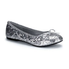Funtasma STAR-16G Women's Shoes Silver Glitter Ballet Flats Slip On Sandal