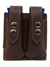 NEW Barsony Brown Leather Double Magazine Pouch Smith&Wesson M&P Compact 9mm 40