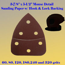 Mouse Detail Sander Sandpaper  Hook & Loop 60-240 Grit For Black & Decker