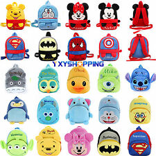 Baby Girls Boys Animal Plush Doll Cartoon Schoolbag Shoulder Backpack Small Bag