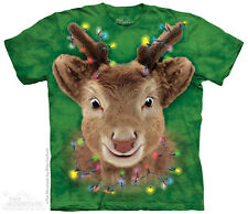 Lights Reindeer Kids T-Shirt from The Mountain. Big Face Child Sizes NEW