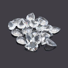 Natural White Topaz Faceted Pear Calibrated Size 4x3mm - 7x10mm Loose Gemstone