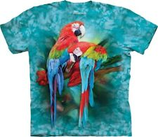 The Mountain Macaw Mates T-Shirt - 100% Cotton Short Sleeve Blue